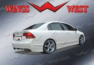 Civic 2Dr - Rear Add On - Wings West - Honda Civic Wings West VIP Rear Lower Skirt - 890913