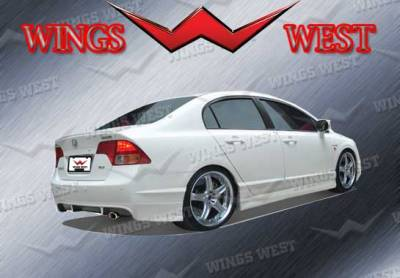 Civic 4Dr - Rear Add On - VIS Racing - Honda Civic 4DR VIS Racing VIP Rear Lip - Polyurethane - Polyurethane - 890913