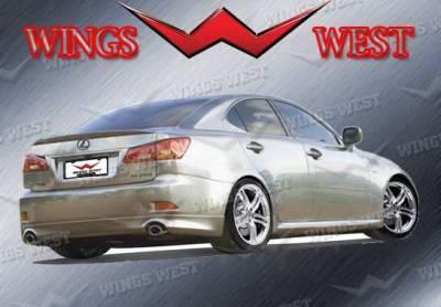IS - Rear Add On - Wings West - Lexus IS Wings West VIP Rear Lower Skirt - 890917