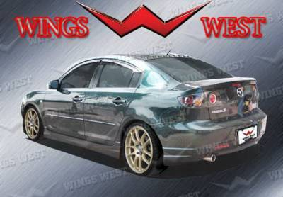 3 4Dr - Rear Add On - Wings West - Mazda 3 Wings West VIP Rear Lower Skirt - 890926