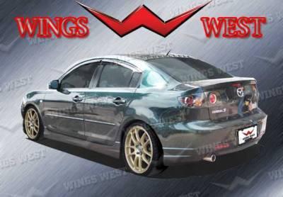 3 4Dr HB - Rear Add On - VIS Racing - Mazda 3 4DR HB VIS Racing VIP Rear Lip - Polyurethane - Polyurethane - 890926