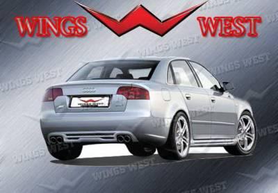 A4 - Rear Add On - Wings West - Audi A4 Wings West VIP Rear Lower Skirt - 890934