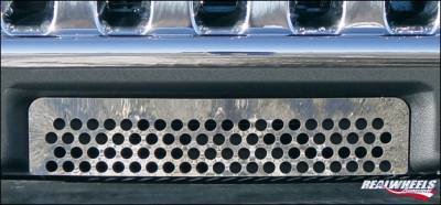 Grilles - Custom Fit Grilles - RealWheels - Hummer H3 RealWheels Lower Bumper Grille Overlay - Polished Stainless Steel - 1PC - RW102-1-A0103