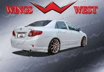Corolla - Rear Add On - Wings West - Toyota Corolla Wings West W-Type Rear Lower Skirt - 890939