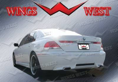7 Series - Rear Add On - Wings West - BMW 7 Series Wings West VIP Rear Lower Skirt - 890943