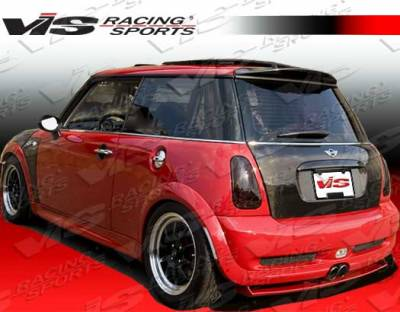 Cooper - Rear Add On - VIS Racing - Mini Cooper VIS Racing Euro Tech Rear Diffuser - 02BMMCS2DET-032