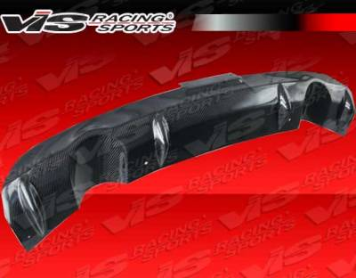 G35 2Dr - Rear Add On - VIS Racing - Infiniti G35 2DR VIS Racing Custom Carbon Fiber Rear Center Diffuser - 03ING352DCUS-032C