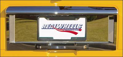 H2 - Body Kit Accessories - RealWheels - Hummer H2 RealWheels Rear License Plate Trim - Polished Stainless Steel - 5PC - RW109-1-A0102