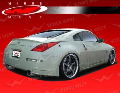 350Z - Rear Add On - VIS Racing - Nissan 350Z VIS Racing JPC Type B Rear Lip - Polyurethane - 03NS3502DJPCB-012P
