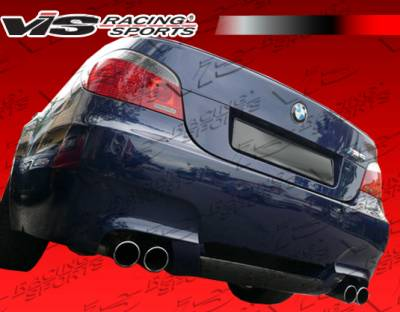 5 Series - Rear Add On - VIS Racing - BMW 5 Series VIS Racing Carbon Fiber A-Tech Rear Lip - 04BME60M54DATH-012C