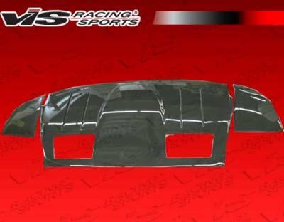 F430 - Rear Add On - VIS Racing - Ferrari F430 VIS Racing N-Tech Rear Lower Carbon Fiber Diffuser - 05FR4302DNTH-012C