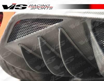 F430 - Rear Add On - VIS Racing - Ferrari F430 VIS Racing Scuderia Style Rear Lower Carbon Fiber Diffuser - 05FR4302DSCU-012C