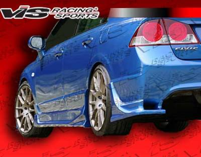 Civic 2Dr - Rear Add On - VIS Racing - Honda Civic VIS Racing Ballistix Rear Addon - 06HDCVC4DJBX-012