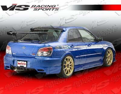 WRX - Rear Add On - VIS Racing - Subaru WRX VIS Racing Wings Rear Addon - 06SBWRX4DWIN-012