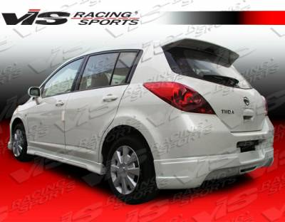 Versa - Rear Add On - VIS Racing. - Nissan Versa VIS Racing Spike Rear Addon - 07NSVERHBSPK-012