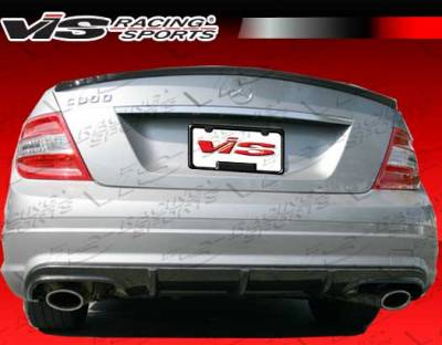 C Class - Rear Add On - VIS Racing - Mercedes-Benz C Class VIS Racing DTM Style Carbon Fiber Rear Diffuser - 08MEW2044DDTM-032C