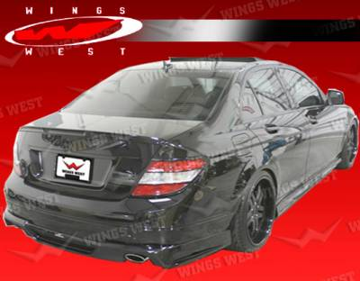 C Class - Rear Add On - VIS Racing - Mercedes-Benz C Class VIS Racing JPC Rear Lip - 08MEW2044DJPC-012P