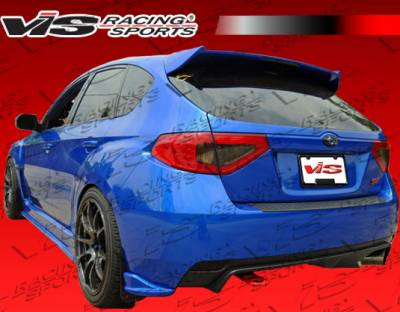 WRX - Rear Add On - VIS Racing - Subaru WRX VIS Racing Z-Speed Rear Lip - 08SBWRXHBZSP-012