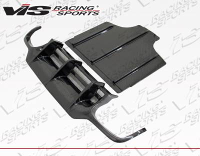 SL - Rear Add On - VIS Racing - Mercedes-Benz SL VIS Racing DTM Carbon Fiber Rear Diffuser - 09MER2302DDTM-032C