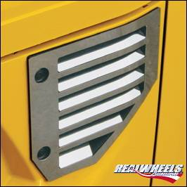 H2 - Body Kit Accessories - RealWheels - Hummer H2 RealWheels Side Vent Cover - Polished Stainless Steel - 14PC - RW120-1-A0102