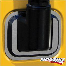 H3 - Mirrors - RealWheels - Hummer H3 RealWheels Side Mirror Bezels - Polished Stainless Steel - Pair - RW121-1-A0103