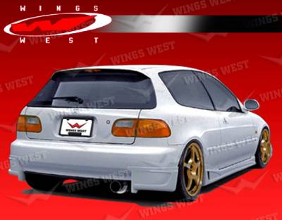 Civic HB - Rear Add On - VIS Racing - Honda Civic HB VIS Racing JPC Type B Rear Lip - Polyurethane - 92HDCVCHBJPCB-012P