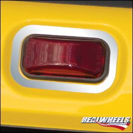 H2 - Body Kit Accessories - RealWheels - Hummer H2 RealWheels Rear Upper Marker Light Bezels - Polished Stainless Steel - 3PC - RW124-1-A0102