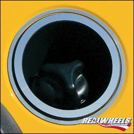 Accessories - Fuel Tank Covers - RealWheels - Hummer H2 RealWheels Fuel Tank Bezel - Polished Stainless Steel - 2PC - RW125-1-A0102