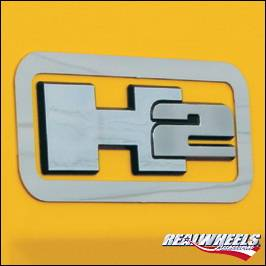 H2 - Body Kit Accessories - RealWheels - Hummer H2 RealWheels Logo Trim Bezels - Polished Stainless Steel - Pair - RW126-1-A0102