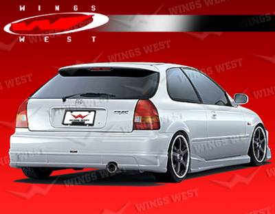 Civic HB - Rear Add On - VIS Racing - Honda Civic HB VIS Racing JPC B Rear Lip - Polyurethane - 96HDCVCHBJPCB-012P
