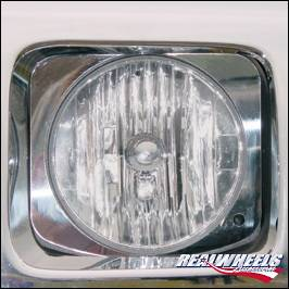 RealWheels - Hummer H2 RealWheels Head Light Trim - Polished Stainless Steel - Pair - RW128-1-A0102
