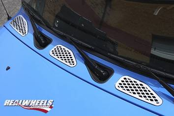 FJ Cruiser - Body Kit Accessories - RealWheels - Toyota FJ Cruiser RealWheels Vent Covers - Polished Stainless Steel - 3PC - RW131-1-T0202