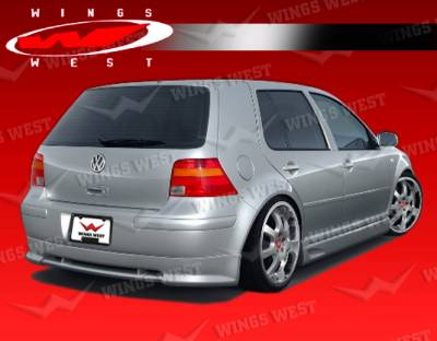 Golf - Rear Add On - VIS Racing - Volkswagen Golf VIS Racing JPC Type B Rear Lip - Polyurethane - 99VWGOF2DJPCB-012P