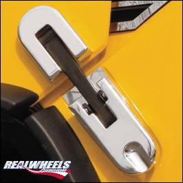 RealWheels - Hummer H2 RealWheels Custom Oversized Hood Latches with Trim - Billet Aluminum - Pair - RW201-1-A0102