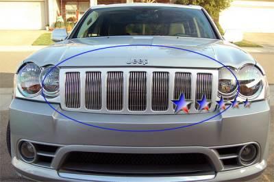 Grilles - Custom Fit Grilles - APS - Jeep Grand Cherokee APS Billet Grille - Upper - Aluminum - J66540V