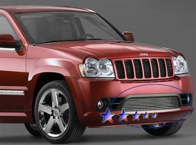 Grilles - Custom Fit Grilles - APS - Jeep Grand Cherokee APS Billet Grille - Bumper - Stainless Steel - J66605S