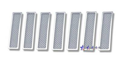 Grilles - Custom Fit Grilles - APS - Jeep Liberty APS Wire Mesh Grille - Upper - Stainless Steel - J75551T