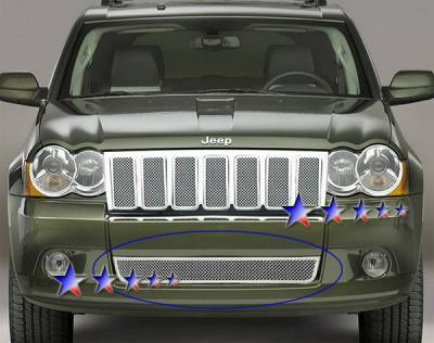 Grilles - Custom Fit Grilles - APS - Jeep Grand Cherokee APS Wire Mesh Grille - Bumper - Stainless Steel - J76605T