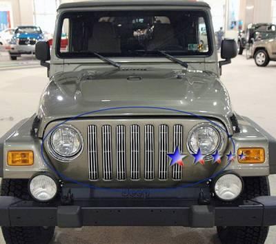 Grilles - Custom Fit Grilles - APS - Jeep Wrangler APS Billet Grille - Upper - Aluminum - J85490V