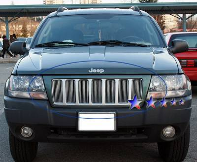 Grilles - Custom Fit Grilles - APS - Jeep Grand Cherokee APS Billet Grille - Upper - Aluminum - J85491V