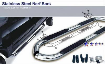 Suv Truck Accessories - Running Boards - APS - Jeep Wrangler APS Side Step Nerf Bars - JB2084