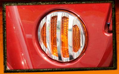 Wrangler - Body Kit Accessories - RealWheels - Jeep Wrangler RealWheels Front Marker Light Trim - Billet Aluminum - Pair - RW208-1-J