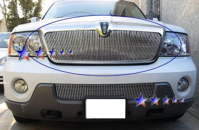 Grilles - Custom Fit Grilles - APS - Lincoln Navigator APS Billet Grille - Upper - Aluminum - L66544V