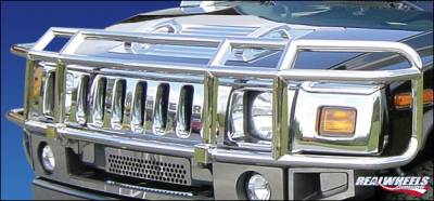 RealWheels - Hummer H2 RealWheels Brush Guard - Double Tier Wrap Around - Polished Stainless Steel - 1PC - RW302-1-A0102
