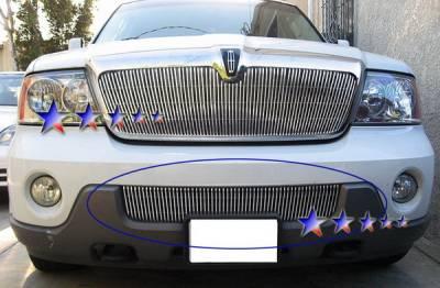 Grilles - Custom Fit Grilles - APS - Lincoln Navigator APS Billet Grille - Bumper - Aluminum - L66545V