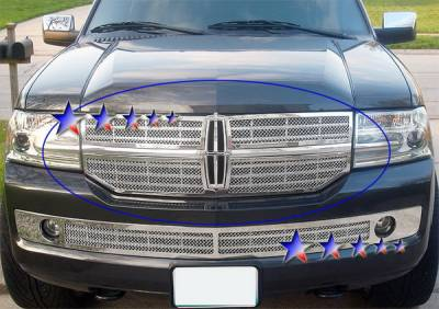 Grilles - Custom Fit Grilles - APS - Lincoln Navigator APS Wire Mesh Grille - Upper - Stainless Steel - L75016T