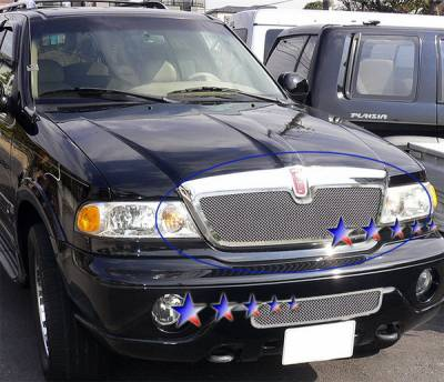 Grilles - Custom Fit Grilles - APS - Lincoln Navigator APS Wire Mesh Grille - Upper - Stainless Steel - L75017T