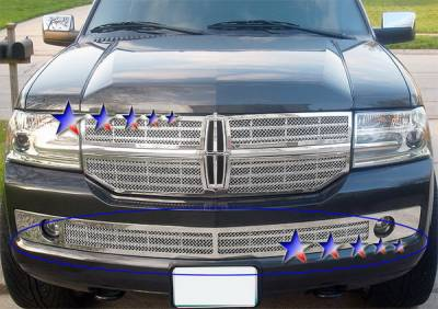 Grilles - Custom Fit Grilles - APS - Lincoln Navigator APS Wire Mesh Grille - Bumper - Stainless Steel - L75019T