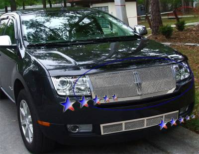 Grilles - Custom Fit Grilles - APS - Lincoln MKX APS Wire Mesh Grille - Upper - Stainless Steel - L75217T