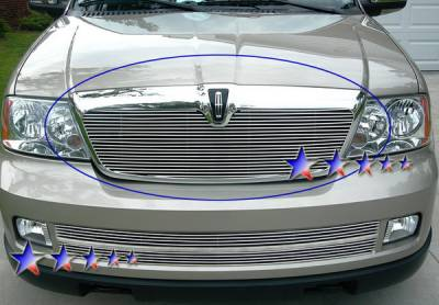 Grilles - Custom Fit Grilles - APS - Lincoln Navigator APS Billet Grille - Upper - Stainless Steel - L85017S